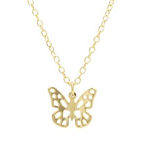 "18"" Midas Altro Butterfly Charm Necklace 1.31g"