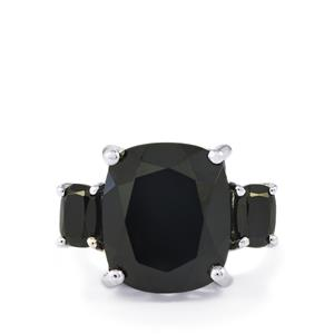 12.25ct Black Spinel Sterling Silver Ring