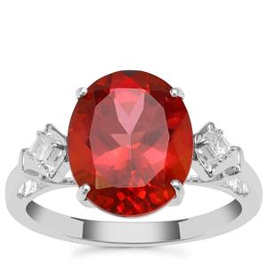 Cruzeiro Topaz Ring with White Zircon in Sterling Silver 5.84cts