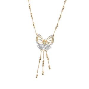 Alexandrite Butterfly Necklace with Ceylon Sapphire in 9K Gold 0.71ct
