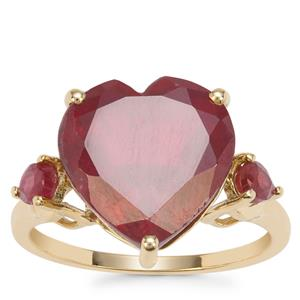 Malagasy Ruby Ring in 9K Gold 10.68cts (F)