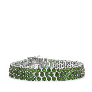 26.85ct Chrome Diopside Sterling Silver Bracelet