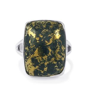 Apache Gold Pyrite Ring in Sterling Silver 19cts