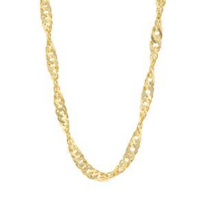 "18"" Midas Classico Diamond Cut Twisted Curb Chain 7.27g"