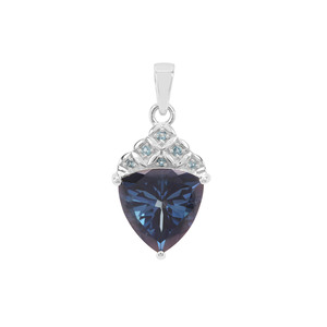 Hope Topaz Pendant with London Blue Topaz in Sterling Silver 6.26cts