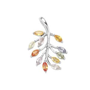 2.04ct Rainbow Sapphire Sterling Silver Pendant