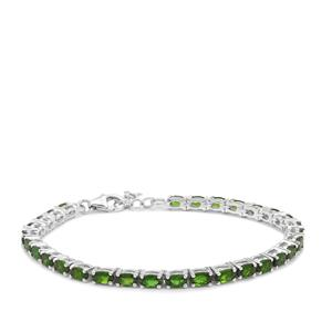 7.02ct Chrome Diopside Sterling Silver Bracelet