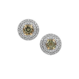 Chrome Diopside & Green Diamond 9K Gold Ring ATGW 0.94ct