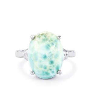 9.61ct Larimar Sterling Silver Ring