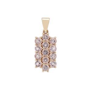 2ct Cherry Blossom™ Morganite 9K Gold Pendant