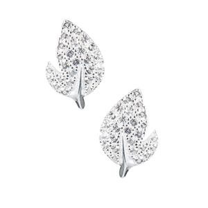 0.43ct White Topaz Sterling Silver Earrings
