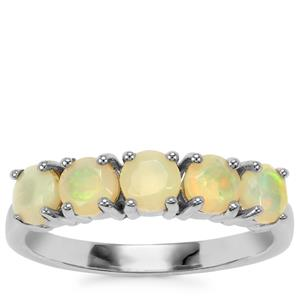 Ethiopian Opal Ring in Sterling Silver 0.83ct