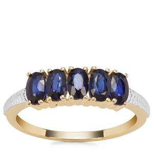 Sri Lankan Sapphire Ring in 9K Gold 1.46cts