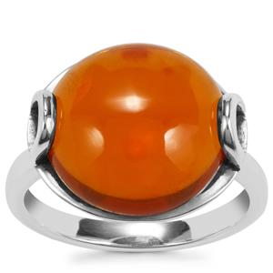American Fire Opal Ring in Sterling Silver 7.19cts