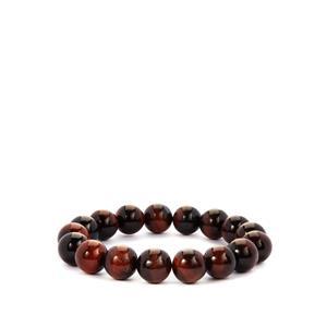 Red Tiger's Eye Stretchable Bracelet  215cts