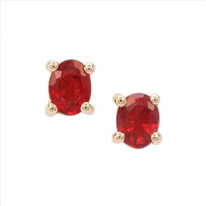 Winza Ruby Earrings in 9K Gold 0.49cts