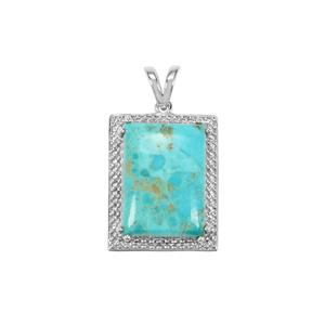 Cochise Turquoise Pendant in Sterling Silver 12.36cts