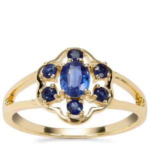 Daha Kyanite Ring with Thai Sapphire in 9K Gold 0.85ct