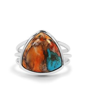 Oyster Copper Mojave Turquoise Ring in Sterling Silver 8.50cts