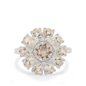 Serenite & White Zircon Sterling Silver Ring ATGW 4.44cts
