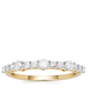 Diamond Ring in 9K Gold 0.55ct