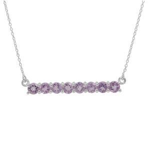 2ct Rose De France Amethyst Sterling Silver Necklace