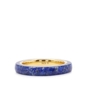 Sar-i-Sang Lapis Lazuli Ring in Gold Plated Sterling Silver 2.70cts
