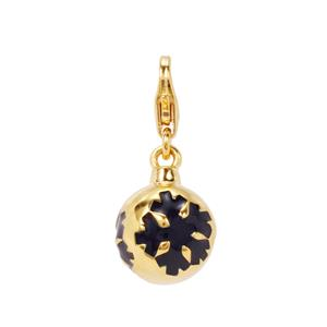 Bauble with Snowflakes Milano Charms in Gold Plated Sterling Silver