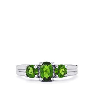 Chrome Diopside Ring in Sterling Silver 1.48cts