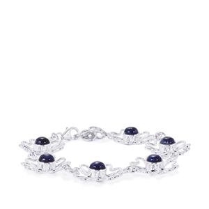 American Sodalite Bracelet in Sterling Silver 8cts