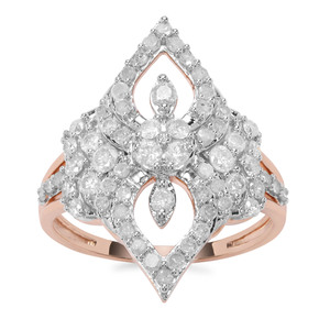 'Bucarest' 1ct First Class Diamond Ring 9K Rose Gold