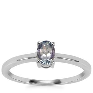 Tanzanite Ring in Sterling Silver 0.44cts