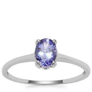AA Tanzanite Ring in 9K White Gold 0.73ct