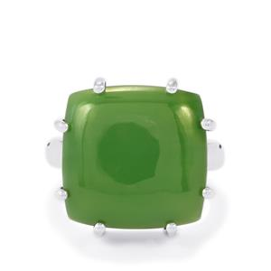 Nephrite Jade Ring in Sterling Silver 15cts