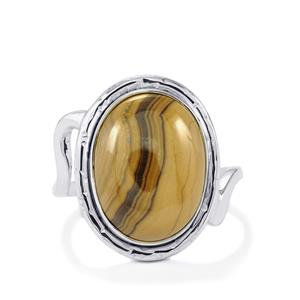 Schelm Blend Sphalerite Ring in Sterling Silver 11.50cts