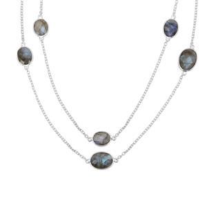 16.05ct Labradorite Sterling Silver Aryonna Necklace