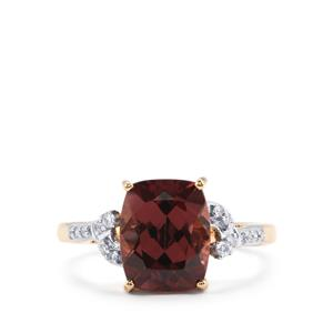 Zanzibar Zircon & Diamond 18K Gold Lorique Ring MTGW 5.18cts