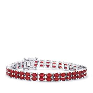 Malagasy Ruby Bracelet in Sterling Silver 24.35cts (F)