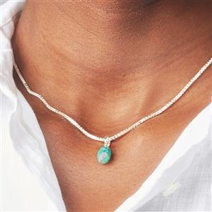 Molte Amazonite Oval Charm in Sterling Silver