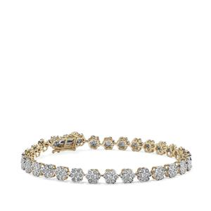 2ct Diamond 10K Gold Bracelet