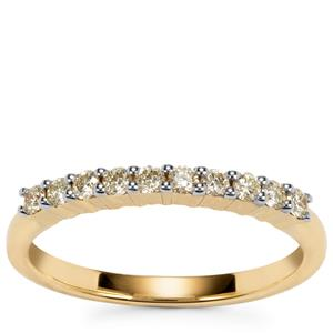 Natural Yellow Diamond Ring in 18k Gold 0.25ct
