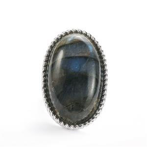 Labradorite Sarah Bennett Ring in Sterling Silver 33.07cts