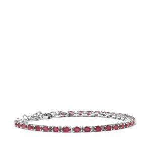 Malagasy Ruby Bracelet in Sterling Silver 8.86cts (F)