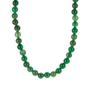 Green Agate Necklace in Sterling Silver 203.70cts