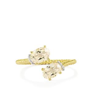 Zambezia Morganite Ring in 10k Gold 1.18cts
