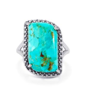 11.04ct Cochise Turquoise Sterling Silver Ring