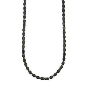 Black Spinel Necklace in Sterling Silver 42cts