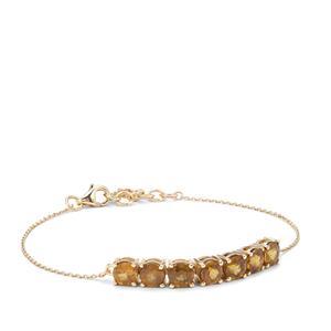 Morafeno Sphene Bracelet in 9K Gold 3.54cts