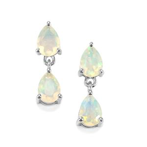 Ethiopian Opal Earrings In Sterling Silver 1 76cts