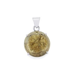 Drusy Pyrite Pendant in Sterling Silver 49cts